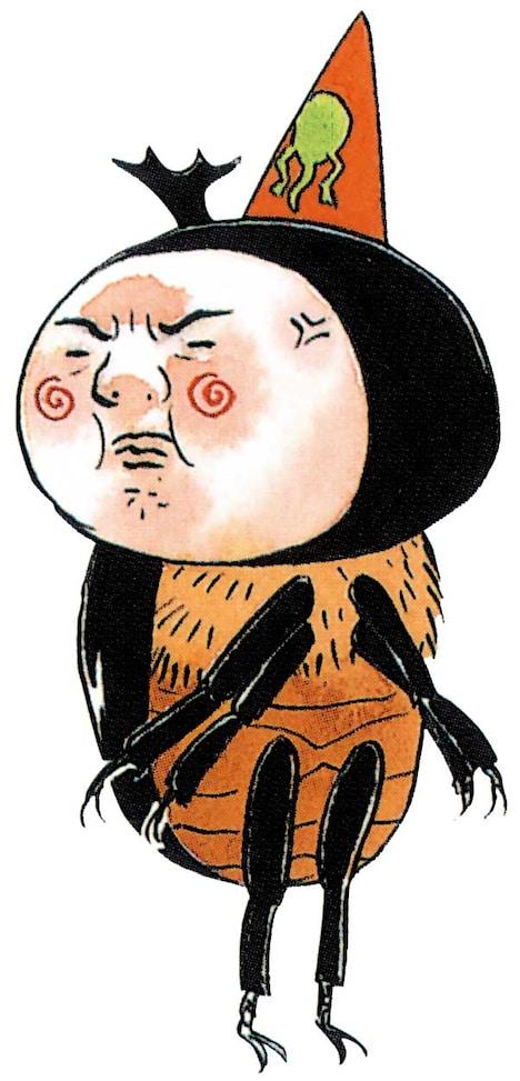 カブトムシ斎藤。苦学生のカブトムシ。非常にナイーブでショックを受けやすく、その度に泣いてどこかに飛んでいく。