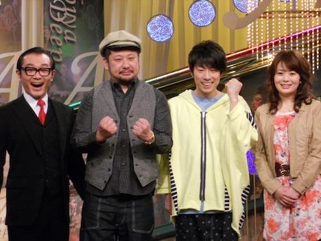 4月からNHK総合で放送されることになった「Shibuya Deep A」。会見には、レギュラー出演者のロンドンブーツ1号2号・田村淳、ケンドーコバヤシ、茂木淳一、橋本奈穂子アナウンサーが出席した。