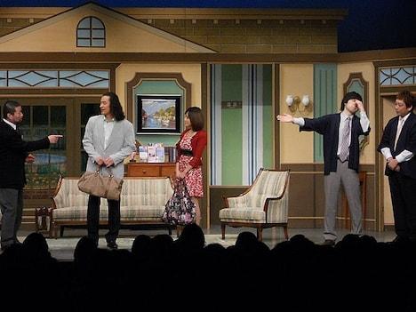 新宿・ルミネtheよしもとにて上演された、木村祐一班の新作新喜劇「恋の旅館~クマった騒動~」。脚本はザ・プラン9の久馬。出演は、木村のほか、大山英雄、千原せいじ、板尾創路らとなっている。