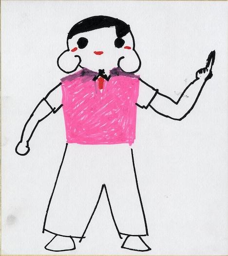"""10月2日(日)から16日(日)に行われる「みんなに届け!Happyチュウキョ~くんキャンペーン」の企画で、オードリー春日が描いた""""Happyチュウキョ~くん""""。"""