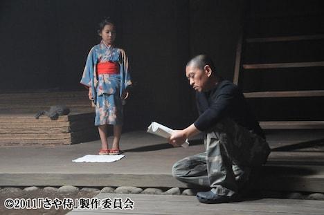「さや侍」のメイキングシーン。(c)2011「さや侍」製作委員会