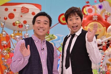10月6日より毎週土曜放送「特盛!よしもと 今田・八光のおしゃべりジャングル」。(c)YTV