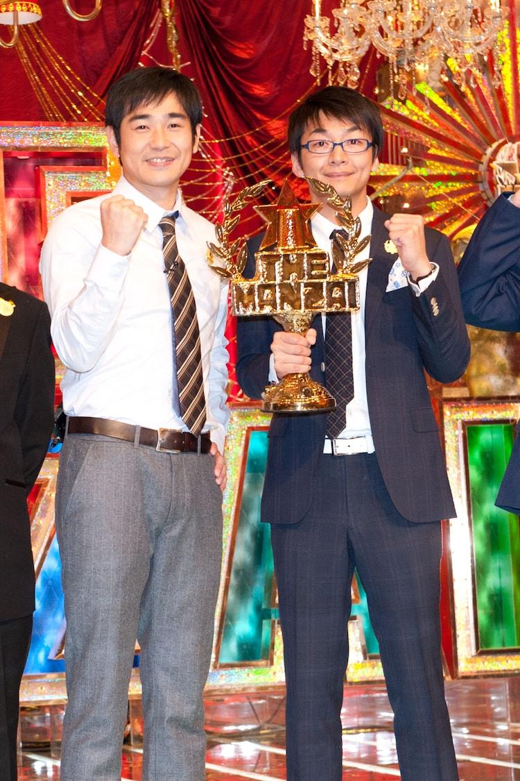 「日清食品 THE MANZAI 2012 年間最強漫才師決定トーナメント」で王者に輝いたハマカーン。