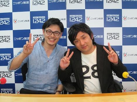 「オールナイトニッポン0(ZERO)」木曜日を担当することになったアルコ&ピース。左が平子、右が酒井。