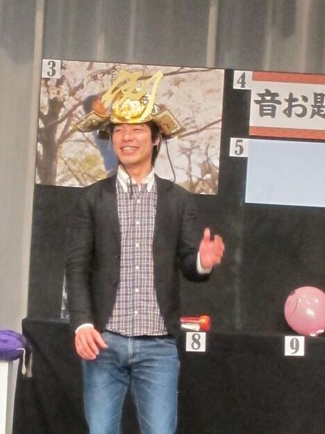 東京・ルミネtheよしもとにて行われた「T-1グランプリ~最強たとえ王決定戦~」で優勝した麒麟・川島。