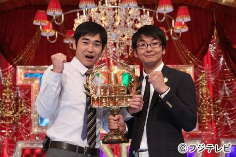 昨年2012年の「THE MANZAI 2012」で見事優勝したハマカーン。(c)フジテレビ