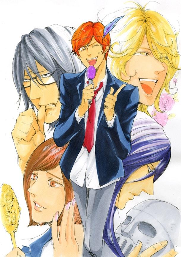 永井三郎が残念な男子高校生たちを描く「金の卵(きんたま)ヒーローズ」のカット。