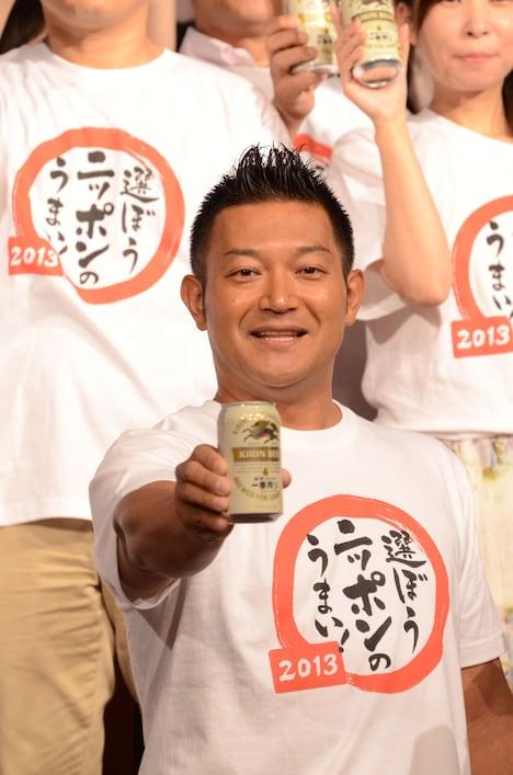 「キリンビール株式会社 ニッポンのうまいプロジェクト」応援団長の山口智充