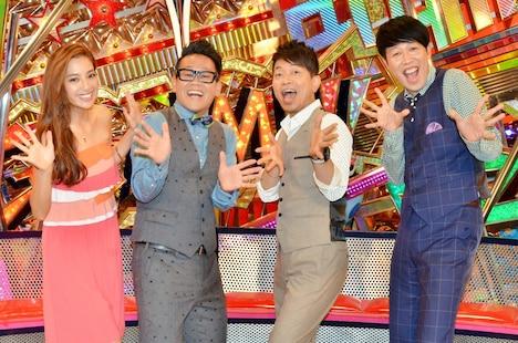 「噂の現場直行ドキュメン ガンミ!」に出演する(左から)中村アン、宮川大輔、雨上がり決死隊・宮迫、小籔千豊。