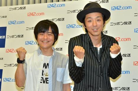 「オールナイトニッポンGOLD」新パーソナリティの(左から)バカリズム、宮藤官九郎。