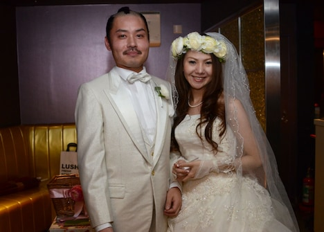 """""""結婚の宴""""を開催したお侍ちゃん夫婦。"""