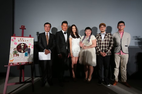 映画「和田一号」の舞台挨拶の様子。