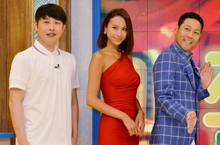 (左から)ギンナナ金成、道端アンジェリカ、東野幸治。
