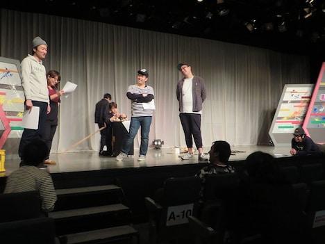 「ロシアンモンキー&マキシマムパーパーサム解散ライブ『スパイダーおかんがハゲとるやないか!!』」リハーサルの様子。
