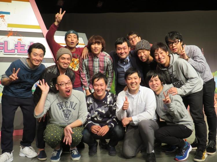 「ロシアンモンキー&マキシマムパーパーサム解散ライブ『スパイダーおかんがハゲとるやないか!!』」終演後、NSC東京6期生の集合写真。