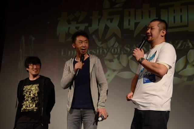 松江哲明、カンパニー松尾、ケンコバ(左から)