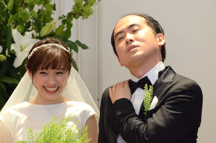 映画「ラスト5イヤーズ」のPRイベントに出演した(左から)高橋愛、トレンディエンジェル斎藤。