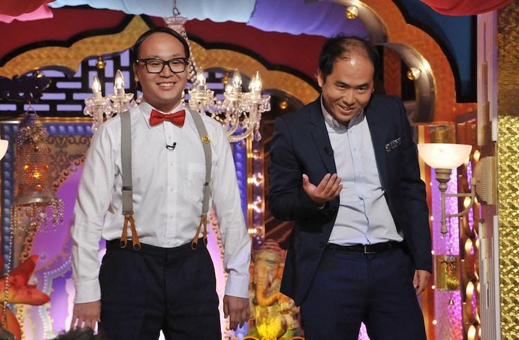 「今夜くらべてみました」に出演するトレンディエンジェル。(c)日本テレビ