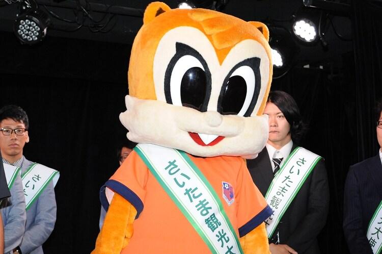 大宮アルディージャのマスコットキャラクター・アルディ。