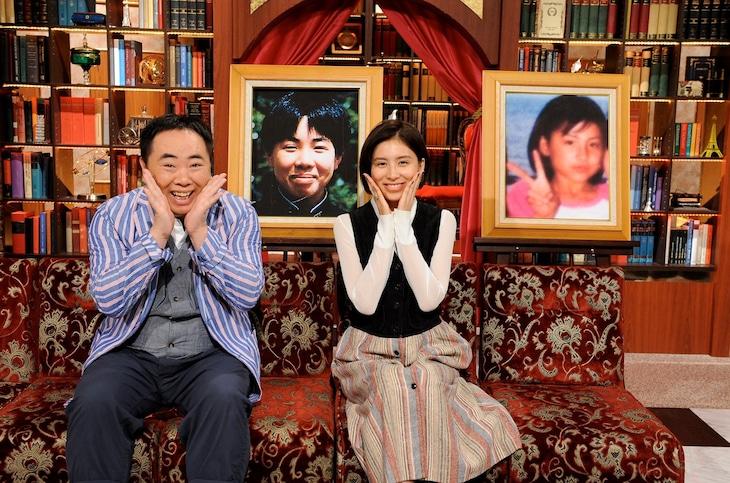 「あいつ今、何してる?」にゲスト出演する(左から)ドランクドラゴン塚地、ラブリ。(c)テレビ朝日
