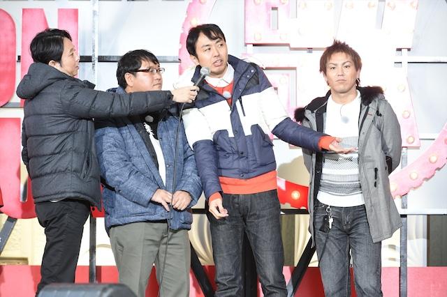 歌ウマ対決に臨む有吉チーム。(c)TBS