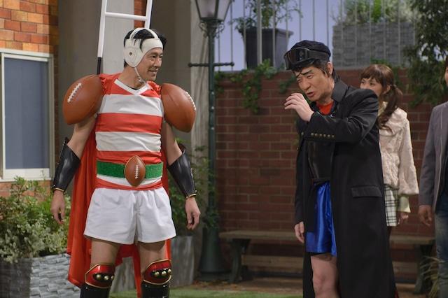 コント「スポーツ番長」に登場する堤真一と内村光良(左から)。(c)NHK