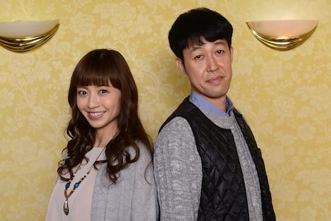 ドラマ「マネーの天使」主演の片瀬那奈、小籔千豊(左から)。(c)読売テレビ