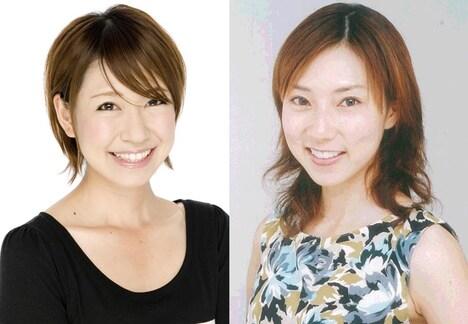 左から桜 稲垣早希、宮村優子。