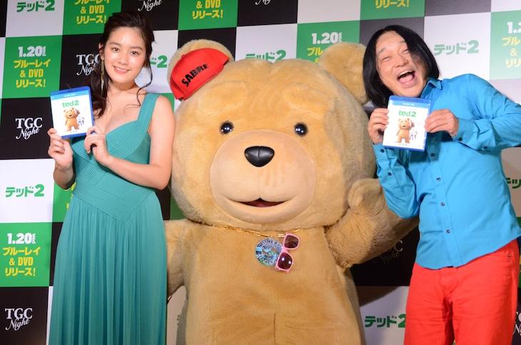 左から、筧美和子、テッド、永野。