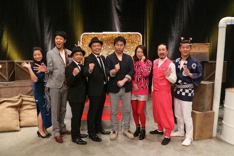 「ヨルスパ! 暗躍!芸人ブローカー外伝2~禁断のオールスター(秘)クイズ祭~」の出演者たち。(c)関西テレビ