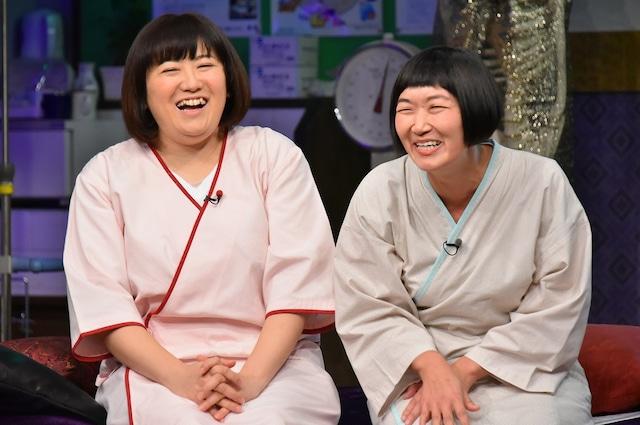 左から森三中・黒沢、たんぽぽ川村。(c)日本テレビ