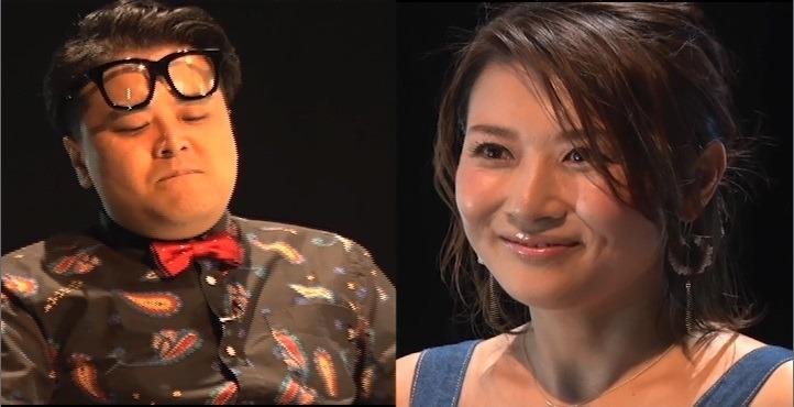 「EXD44」に出演する(左から)とろサーモン久保田、藤崎奈々子。(c)テレビ朝日