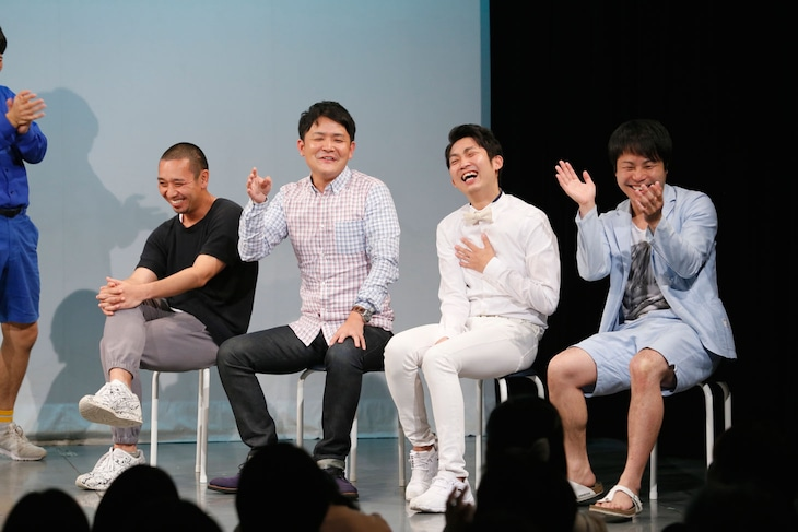 「Second SPARK~ドラマ火花が絶対観たくなるLIVE~」に出演した(左から)千鳥・大悟とノブ、NON STYLE石田と井上。