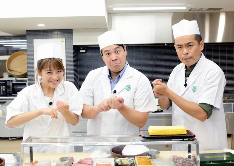 左から鈴木奈々、タカアンドトシ。(c)静岡第一テレビ
