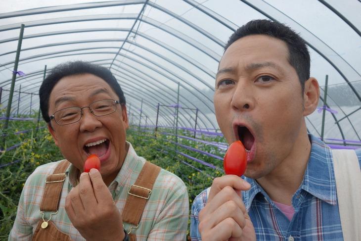 左から梅沢富美男、東野幸治。(c)NHK