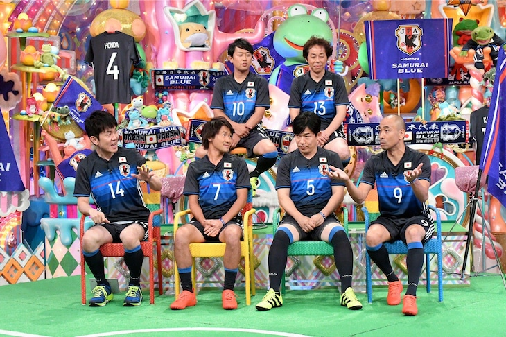 「アメトーーク!」に出演する「サッカー日本代表応援芸人」たち。(c)テレビ朝日