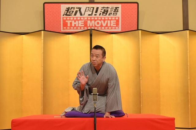 取材会で1席披露した林家たい平。(c)NHK