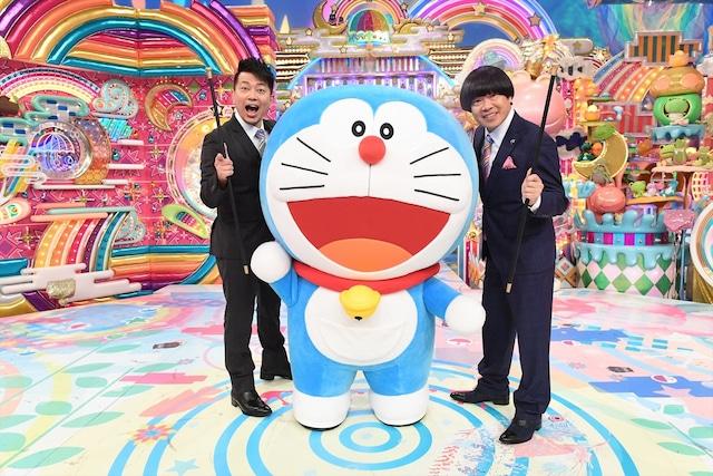 ドラえもんと雨上がり決死隊。(c)藤子プロ・小学館・テレビ朝日・シンエイ・ADK