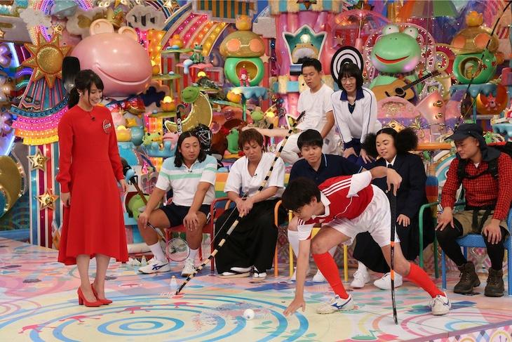 「日曜もアメトーーク!」で展開される「もっと知ってほしい!マイナー部活芸人」のワンシーン。(c)テレビ朝日