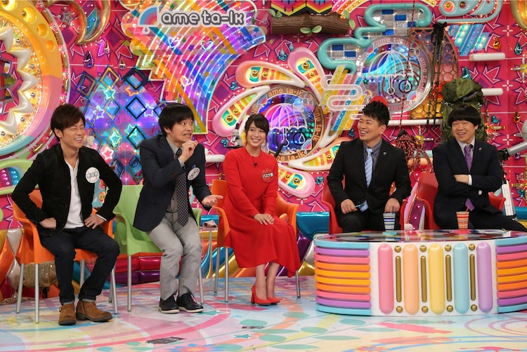 (左から)陣内智則、バカリズム、広瀬アリス、雨上がり決死隊。(c)テレビ朝日