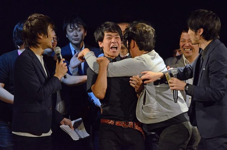 優勝者発表の瞬間。