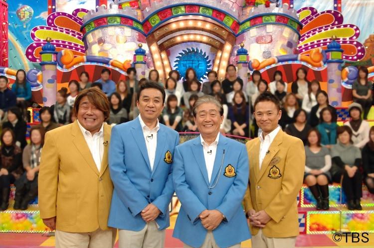 「関口宏の東京フレンドパーク2017 新春ドラマ大集合SP!!」に出演する(左から)ホンジャマカ石塚、渡辺正行、関口宏、ホンジャマカ恵。