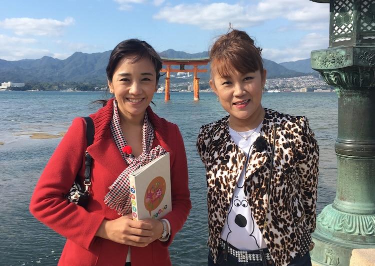 左から西田ひかる、山田邦子。(c)読売テレビ