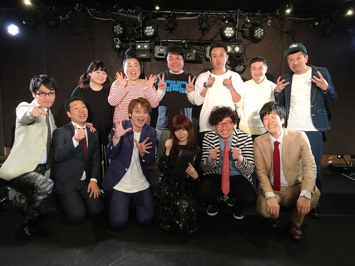 「WEL名古屋 ~ワタナベ名古屋芸人LIVE~」初回の出演者たち。