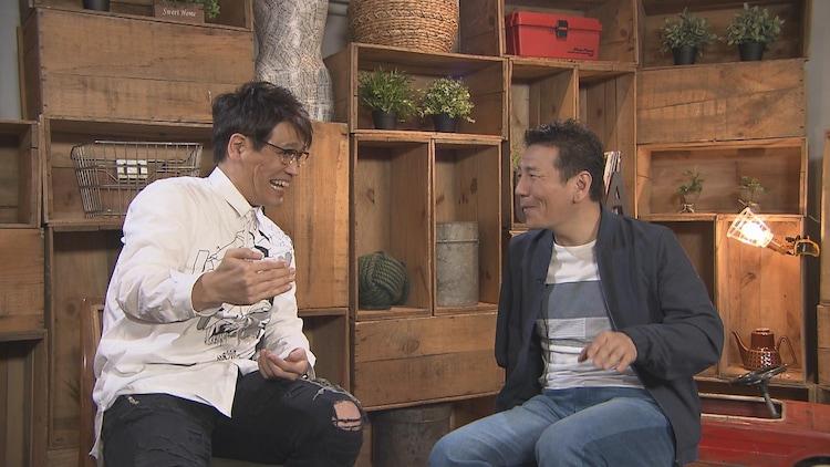 (左から)古坂大魔王、くりぃむしちゅー上田。(c)中京テレビ