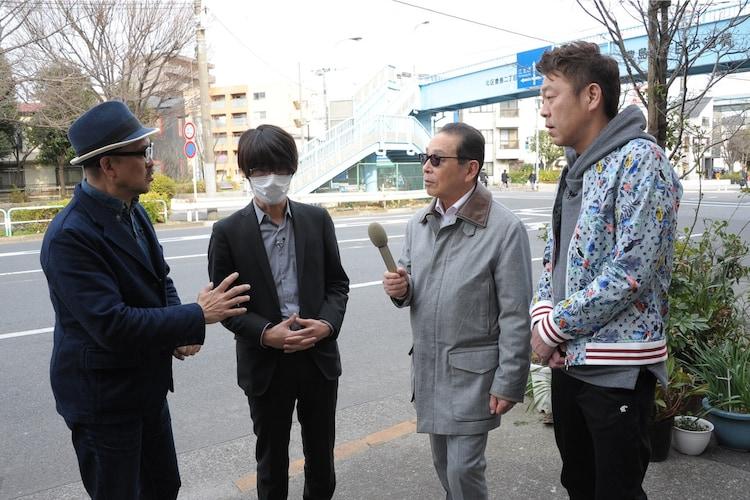 「タモリ倶楽部」に出演する(左から)渡辺祐、清野とおる、タモリ、玉袋筋太郎。(c)テレビ朝日