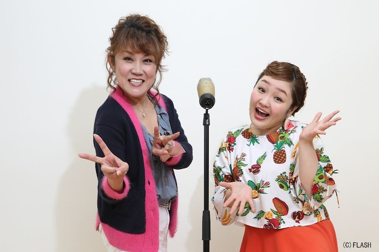 山田邦子(左)と柳原可奈子(右)。