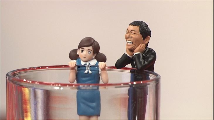 「コップのフチ子」と「コップのさんちゃん」。(c)日本テレビ