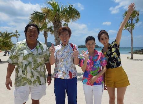左から長州力、よゐこ濱口、西村知美、堀田茜。(c)メ~テレ