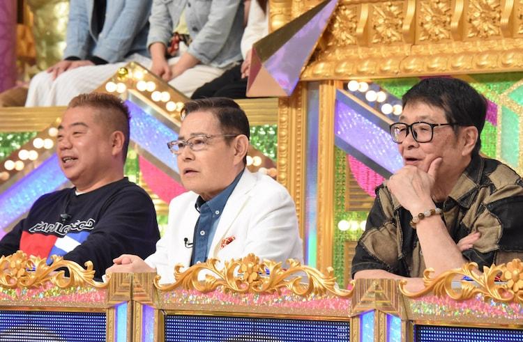 左から出川哲朗、加藤茶、仲本工事。(c)日本テレビ